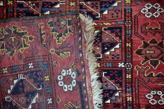 Exceptional Bashir rug with animal patterns on both side borders 182 x 117 cm