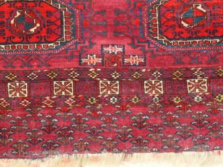 Tekke chuwal Late 19th century sides are missing, size is 122 x 74 cm