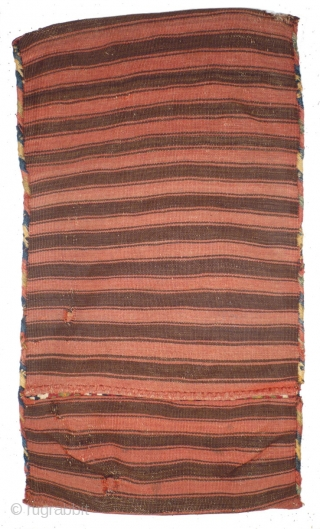 This is one highlight of our annual Advent Bazaar: 1052 Kurdish Kilim Yastik, 48/86 cm, Malatya, SO-Anatolia, late 19th century, complete with striped back side, small repairs, otherwise in good condition! For  ...