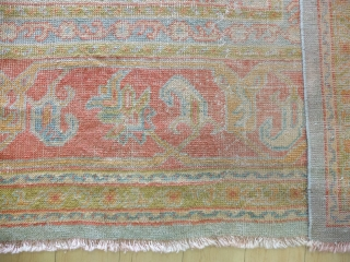 Uschak,488x345cm beginning 2oth.century, no demage, clean washed, low pile, soft colors