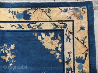 Peking Chinese Rug late 19th century, 256x184 cm in fair condition.