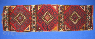 """Antique Kirghiz pillow rug bag, nice color, in very good condition, full pile. Size is 3' - 10"""", 90 - 25 cm."""