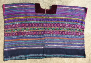 Beautiful vintage huipil from San Martin Jilotepeque, Chimaltenango, Guatemala. Possibly ceremonial. From a the collection of a well-known museum. Collector also known. All provenance will be given to the buyer only. The  ...