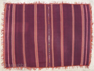 Antique Calcha poncho from Bolivia. Late 19th century or very early 20th century. Finely woven. All wool. Beautiful colors, which are probably natural, except some of the randa embroidery, which seems to  ...