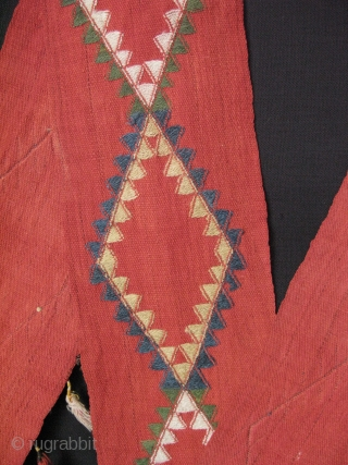 """Central Asian Uzbekistan Kungrat wool tent trapping /band. All natural dyes 6"""" x 250"""" - 15cm x 637cm."""