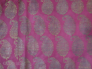 """Isfahan / Kerman brocade silk hanging. recycled form old fragments. Size : 26"""" X 25"""" -- 66 cm X 64 cm"""