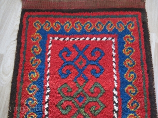 "Turkmen Middle Amu Darya single panel julkur, repair in center with old reginal wool. Great pile and clors. Circa : 1900 or earlier - size: 72"" X 35"" - 183 cm X  ..."