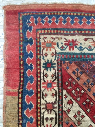 Shahsevan carpet very old 1820 or 1840s size 240x103cm
