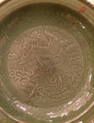 Chine Celadon Plate