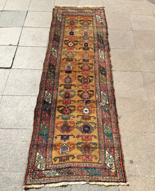 Persian Kurdish carpet maybe bidjar size 265x87cm