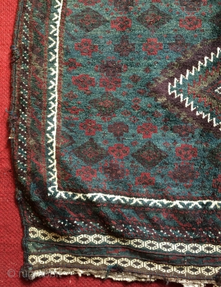 Rare green color  and Skily wool Beluch bag face 62x92cm