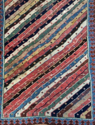 Persian north west Shahsavan Kurdish carpet all are colors natural dyes and camel wool, size 160x100cm