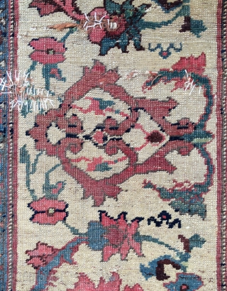 Persian Fragmand rug,mid 18th century This edge of the carpet
