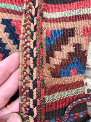 Shahsavan save saddle bag floor color camel wool size 58x63 cm 57x64cm