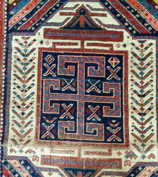 """Shahsavan long rug 9'2""""x3'2"""". good condition with some wear. original selvedge."""