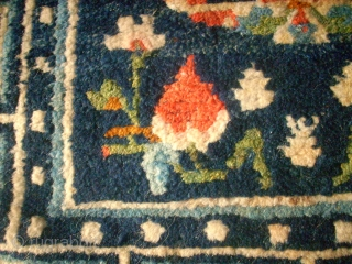 Small Tibetan rug - cushion. Size: 58 x 61 cm. Very good condition.