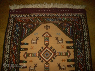 Kordi Quchan Kilim Sumakh. Size: 53 x 90 cm. Top condition. Very nice, small piece.