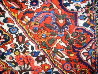 Wonderful old Bachtiari. Size: 132 x 206 cm. Very fine knotting.