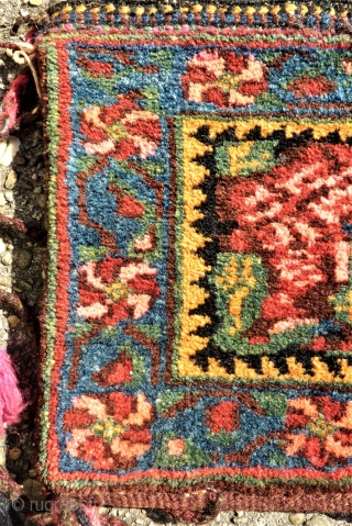 Afshar Chanteh. Small bag. size: 22 x 27 cm. Full pile. Fantastic collors and wool.