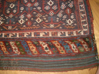 Old bag front - Southpersian. Size: 63 x 40 cm. Sumakh and knotted.
