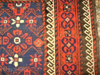 very old and nice baluch rug. size: 127 x 250 cm. Good condition.