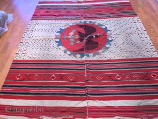 A extremely  rare and very important Saltillo Serape of very fine knotting with subtle tones, which can only be achieved by using naturel dyes.