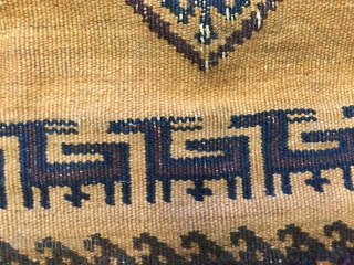 Of striking effect the close knotting and the use of subtle blend tones makes  this Balouch Sofreh a very rare found.