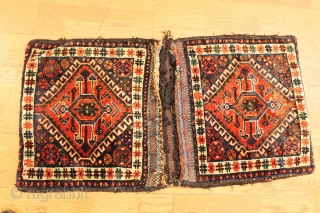 A complete pair of south west-Persian Quashqai bags with a striking backing.