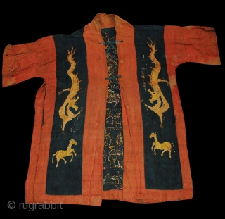 Yao Shaman Priest's Ceremonial Dragon Robe - Excellent motifs. Early-mid 20th century.