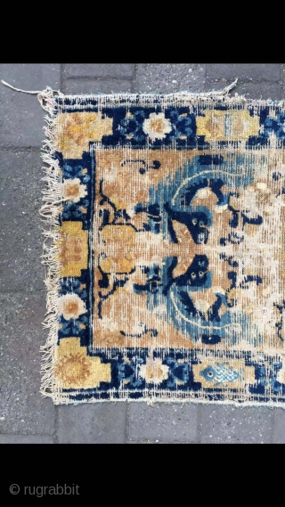 """Chinese Ningxia rug, good age, In the middle of the Qing Dynasty,very nice dragon pattern. Size 121*65cm(47*25"""")"""