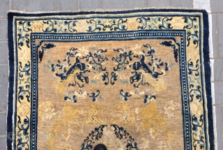 "Chinese Ningxia rug, Eight lions, pattern, it was produced in early Qing Dynasty. Size 130*180cm(50*70"")"