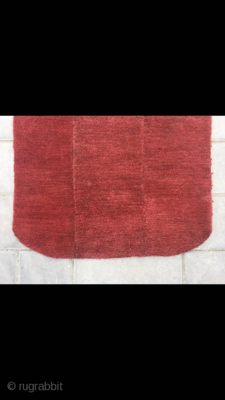 """Tibet rug, sample nice red color, good age and condition. Size 55*72cm(21*28"""")"""
