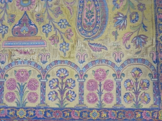 A very old fragment souf of Kashan silk with great design size: 203 x 136 cm  Price: POR