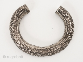 Hollow silver bracelet,