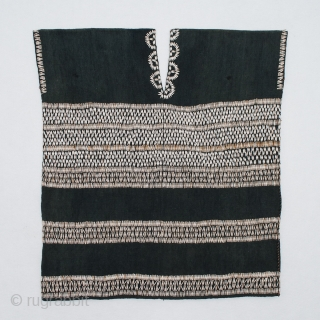 """Woman's blouse or tunic, Karen ethnic group, Burma. Cotton, Job's tears (Coix lacryma-jobi). 31"""" (38 cm) high by 29"""" (71 cm) wide. Mid-20th century. In excellent condition with only a couple of  ..."""