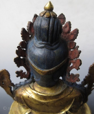 18th Century Sino-Tibetan Gilt Bronze Seated Bodhisattva  A Sino-Tibetan gilt bronze statue of Maitreya, regarded by this world as a future Buddha in succession after the current Sakyamuni Buddha. Tradition teaches that Maitreya  ...