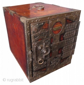 Antique Japanese Keyaki Fune Bako