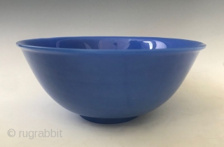 Antique Chinese Peking Glass Powder Blue Bowl  A lustrous monochromatic powder blue Peking Glass bowl with a carved short foot. Chinese Overlay Carved Glass, also known as Peking Glass (Tao Liao Ping in  ...