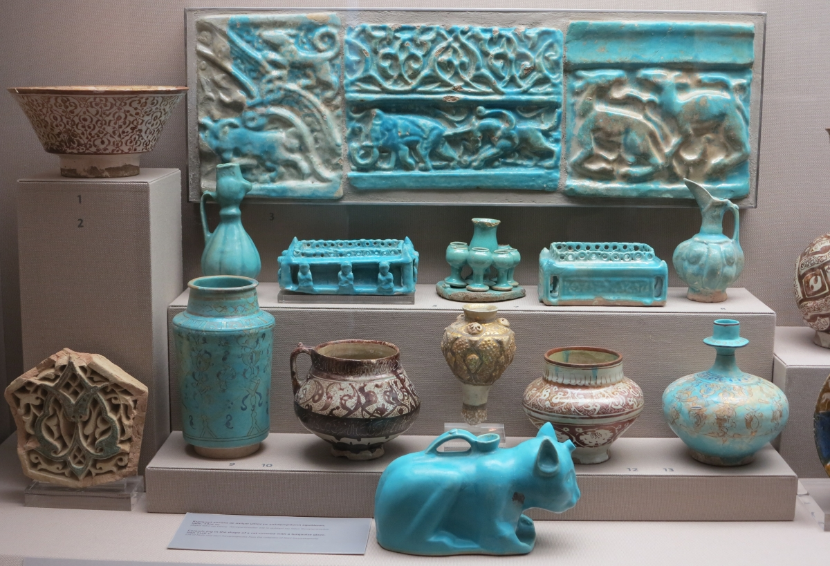 Kashan Ceramics, Benaki Museum of Islamic Art, athens