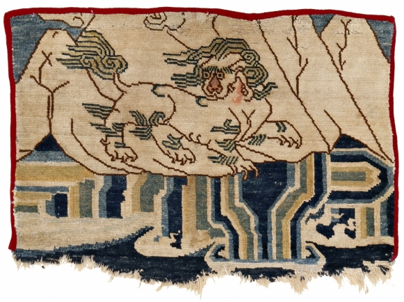 32. Tibetan fragment with snow lion