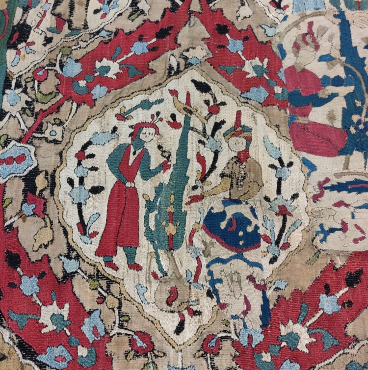 Blythe House, V&A textiles, Safavid era Caucasian / NW Persian embroidery