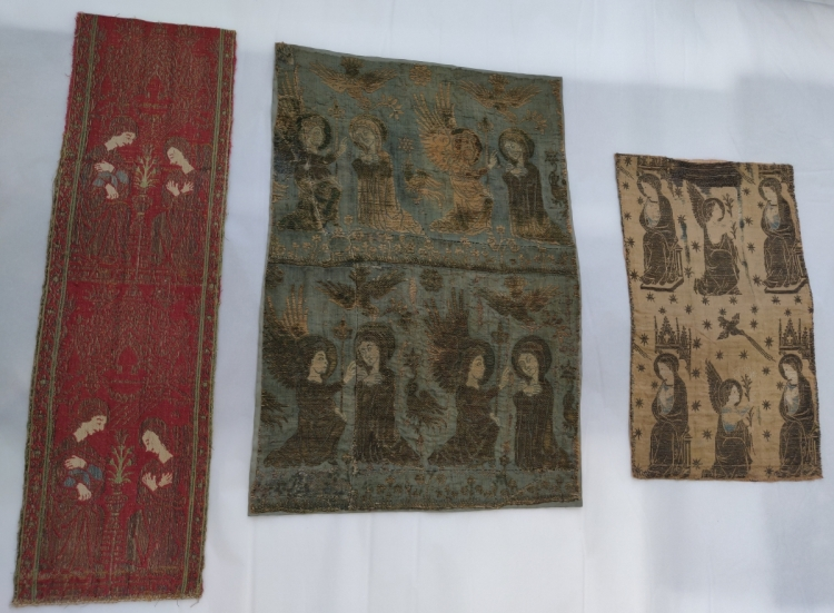 Victoria and Albert Museum textiles at Blythe House, London, Medieval European textiles