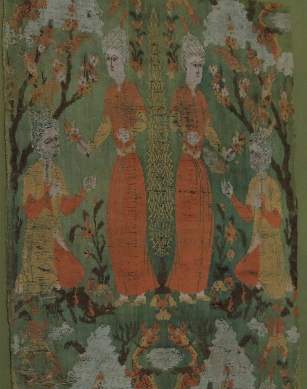 Safavid Persian silk, circa 1570 or before (detail) Benaki Museum of Islamic Art, Athens