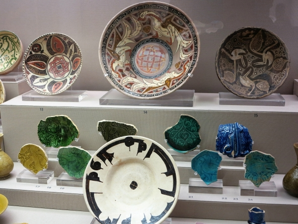 Assorted 10th century Persian and Central Asian Ceramics, Benaki Museum of Islamic Art, Athens