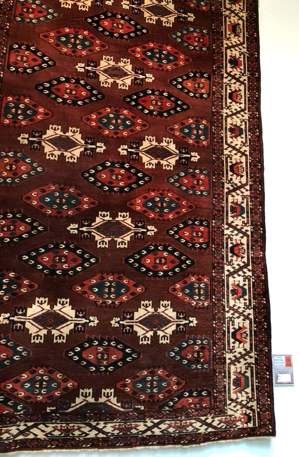 Yomut Turkmen multi-gul main carpet ICOC Washington DC 2018